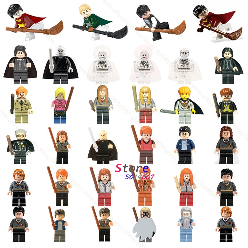 Single Building Blocks Harry Potter Action Figures Hermione Granger Ron Lord Voldemort Draco Malfoy Collection toys for children harry potter single sale action figures hermione granger ron lord voldemort legoings draco malfoy blocks gift toys for children