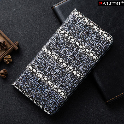 High Quality Genuine Leather Case Cover For Xiomi Mi Note Pro 5.7 Flip the bracket Pearl Fish Texture Case+Free Gifts