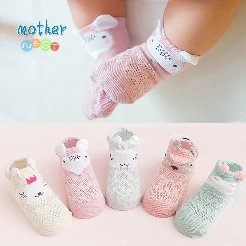 5 Pairs/lot 2018 Summer Baby Socks For Girl Breathable Cotton Mesh 0-3 Y Baby Girl Socks Meias Infant Toddler Baby Accessories