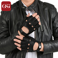 2016 GSG Brand New Driving Genuine Leather Gloves Men Black Driver Sheepskin Soft Mittens Hasp Outdoor Sport Tactical Gloves