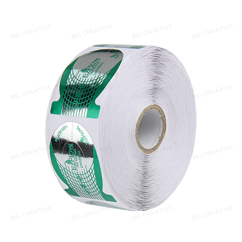 1 rolls(500pcs/roll) Green Horseshoe shape Forms Nail Art Sculpting Acrylic UV Gel Tips Telfon Nail Forms Guide Extension