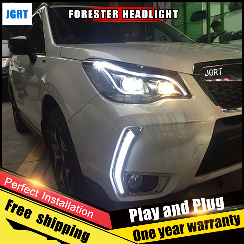 Car Style LED headlights for Subaru Forester 13-14 for Forester head lamp LED DRL Lens Double Beam H7 HID Xenon bi xenon lens hireno headlamp for mercedes benz w163 ml320 ml280 ml350 ml430 headlight assembly led drl angel lens double beam hid xenon 2pcs