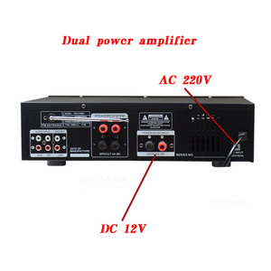 Image 5 - Kaolanhon 200W * 2 12v 220v TAV 6188BT גבוהה כוח Bluetooth מגבר SD USB FM ביתי HIFI רכב מגבר עם שלט רחוק