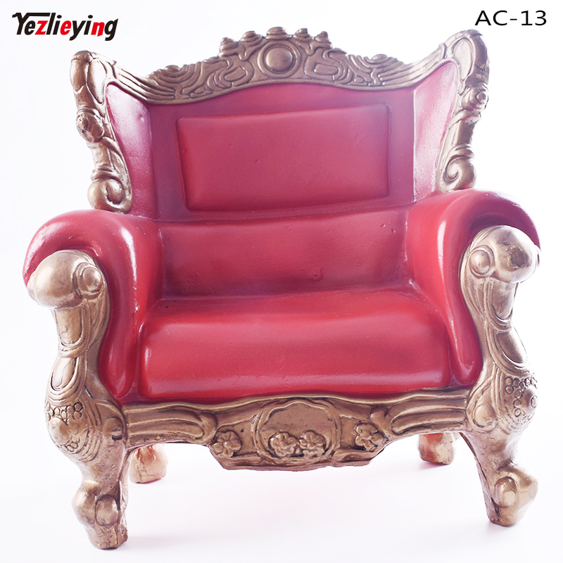 KUMIK 1/6 Person Armchair Dolls Scale Sofa Retro Chair Accessory AC-13 Red Short Single Model Fit 12 Inch Action Figure Toys kumik 1 6 scale war brown horse model ac 10 fit for 12 soldier zc ttl phicen action figure doll toys