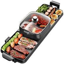 89x26 см 2200 Вт 2в1 электрическая мультиварка, сковорода для барбекю, электрическая сковородка для барбекю, антипригарная жаровня, плита для выпечки