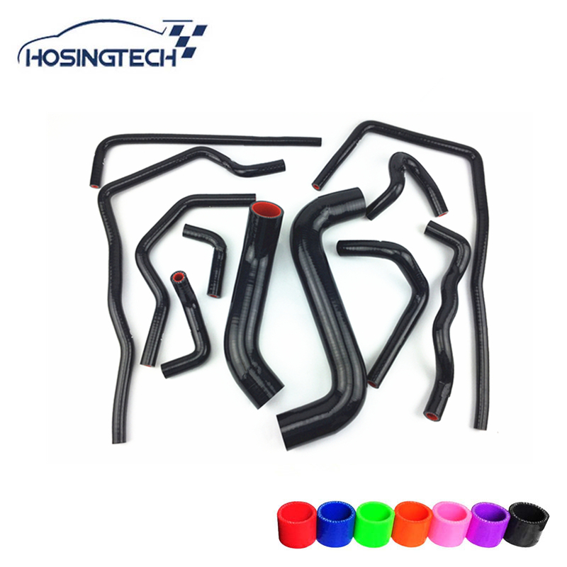 HOSINGTECH-for Subaru Impreza WRX/STi GDB,EJ20 Silicone Heater Radiator Hose Coolant Kits turbo for subaru impreza wrx sti sedan wagon 2003 ej20 2 0l 280hp rhf55 vf37 vg440027 14411 aa541 14411 aa542 turbocharger