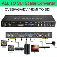 ALL to SDI Scaler Converter VGA/DVI/HDMI signals to SDI output distance up to 100 m(3G SDI) 200m(HD SDI)