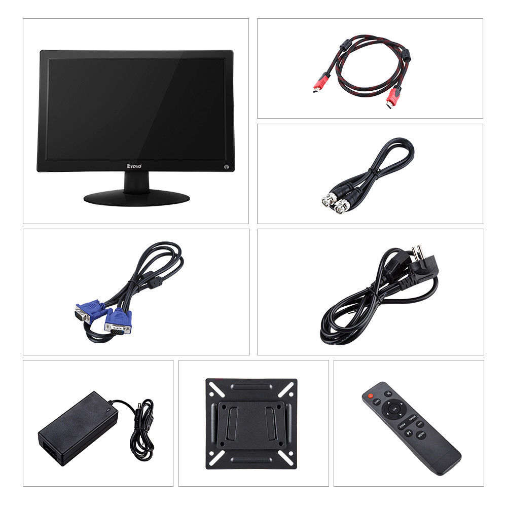"Image 5 - EYOYO 15.6"" IPS HDMI LCD Monitor Display FHD 1920x1080 Video Color Screen With AV VGA BNC USB For TV PC CCTV Security Camera DVDCCTV Monitor & Display   -"