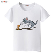 BGtomato Tom and Jerry lovely cartoon t shirt woman Popular Personality cool Brand Good quality soft casual shirts