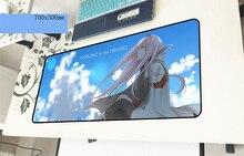 Darling in the franxx геймерский коврик для мыши лучший 700x300x3 мм игровой коврик для мыши Большой модный ноутбук аксессуары для ноутбука коврики