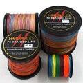 Multicolor 8 strands 100 m 300 m 500 m 1000 m 1500 m 2000 m pe braid línea de pesca de mar pesca de agua salada de la armadura 100% superpotencia hercules