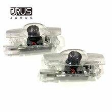 JURUS 2 шт. светодиодный автомобильный логотип на дверь Чехол для замены для Toyota Mark X Corolla Crown проектор Добро пожаловать светильник лазерный авто Внутреннее освещение