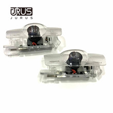 JURUS 2pcs Led Car Door Logo Replace Case For Toyota Mark X Corolla Crown Projector Welcome Light Laser Auto Interior Lighting