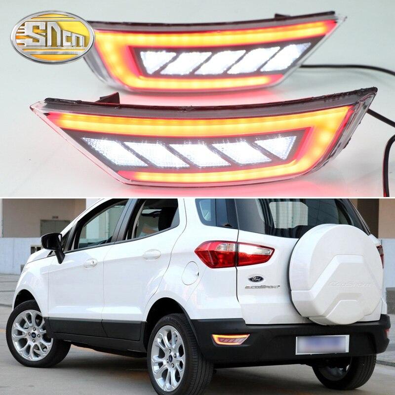 For Ford Ecosport 2013 2018 2019 Multi functions LED Rear Bumper Light Fog Lamp Brake Light