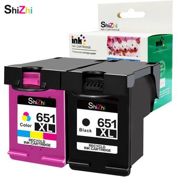 Wkład atramentowy SHIZHI kompatybilny z HP 651 XL 651xl do drukarki HP Deskjet HP Officejet 202 202c 252 252c Deskjet 5645 5575 tanie i dobre opinie Pełna For HP 651XL HP Inkjet Re-produkowane BK 600pcs Tri-color(C M Y) 450pcs HP Officejet 202 202c 252 252c 5645 5575