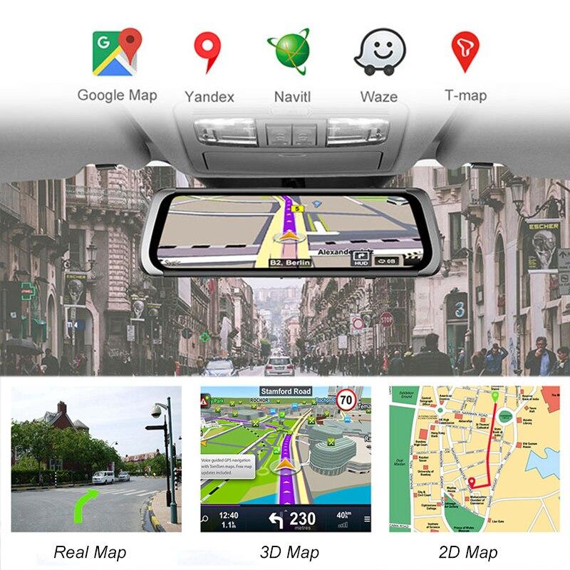 Bluavido, 4G, Android 8,1, зеркальный видеорегистратор, 2 Гб ОЗУ, 32 Гб ПЗУ, gps навигация, Автомобильный видеорегистратор, зеркало заднего вида, 1080 P, видео... - 4