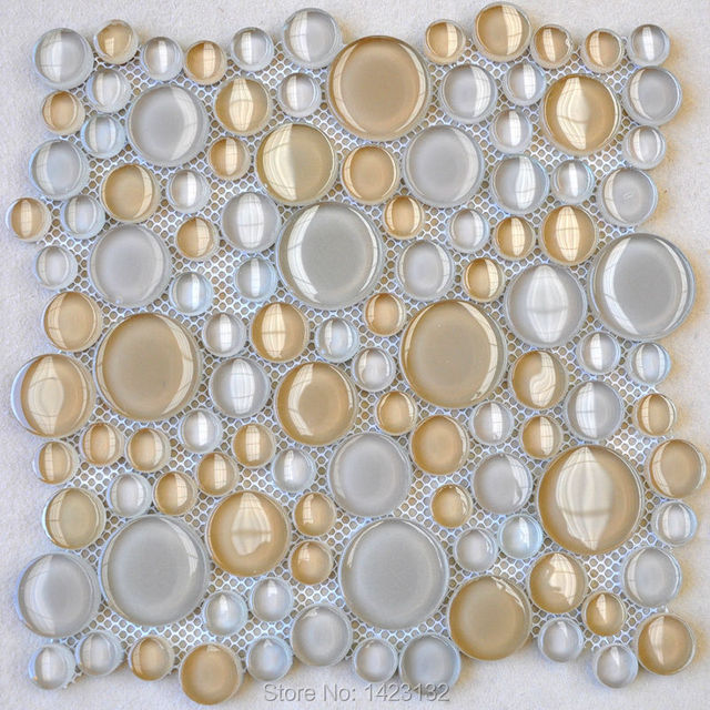 Gl Pebble Tile Sheets Penny Round Backsplash Hdy02 Crystal Mosaic Wall Sticker Pool Tiles