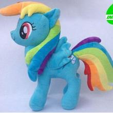 Лидер продаж Фильмы и ТВ 32 см Радуга тире плюшевые лошадь игрушка для подарок на день рождения