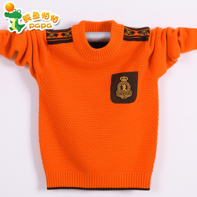 National free shipping 2016 children's clothing boy sweater children sweater sweaters big virgin boy sweater