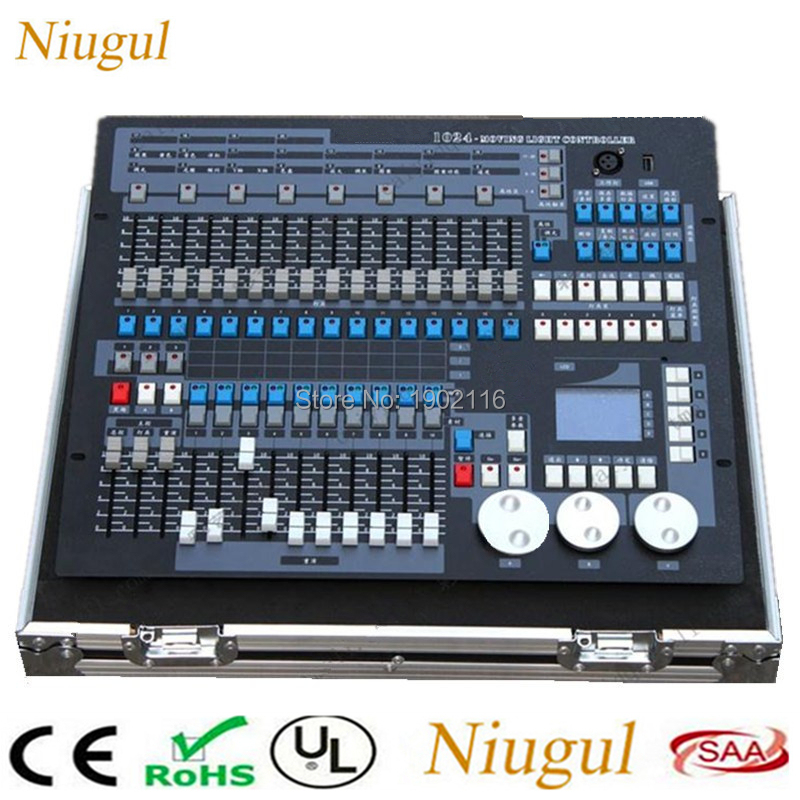 With Flight Case 1024 DMX Console For Stage Light Par Moving Head Light DJ Controller DJ Equipment 1024 Channels DMX Controller tiptop mini pearl 1024 dmx controller for moving head light dmx lighting controller with fase wave dmx controller new arrival