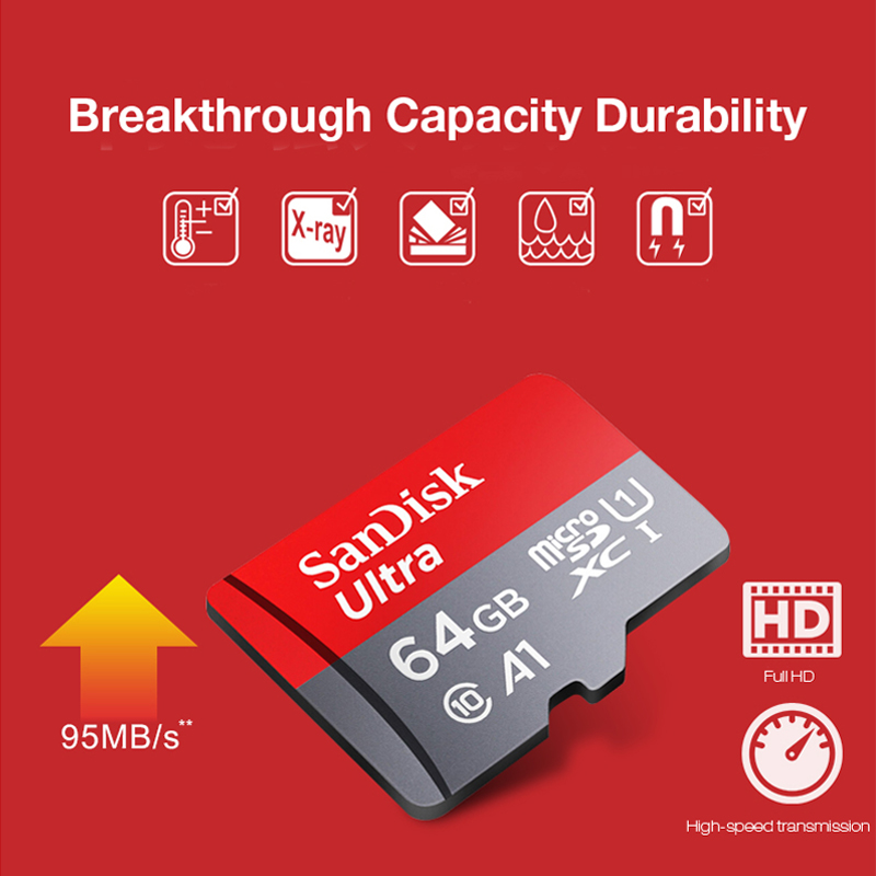 Image 4 - Original Sandisk micro sd card 16gb 32gb 64gb 200gb cartao de memoria carte micro sd 128gb class 10 up to 90MB/s memory card-in Memory Cards from Computer & Office