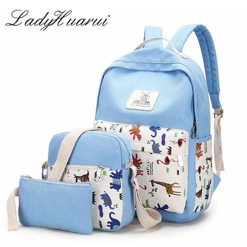Mochila Escolar милые рюкзаки бренда комплект из 3 предметов комплекты Для женщин рюкзак звезда печати школьные сумки для подростка ранцы для дево...
