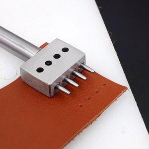 Cuir Craf 1.0mm trou rond poinçon rangée broche couture Cutter outils faire main couture trou 2/4/6 trous 4/5/6mm espacement