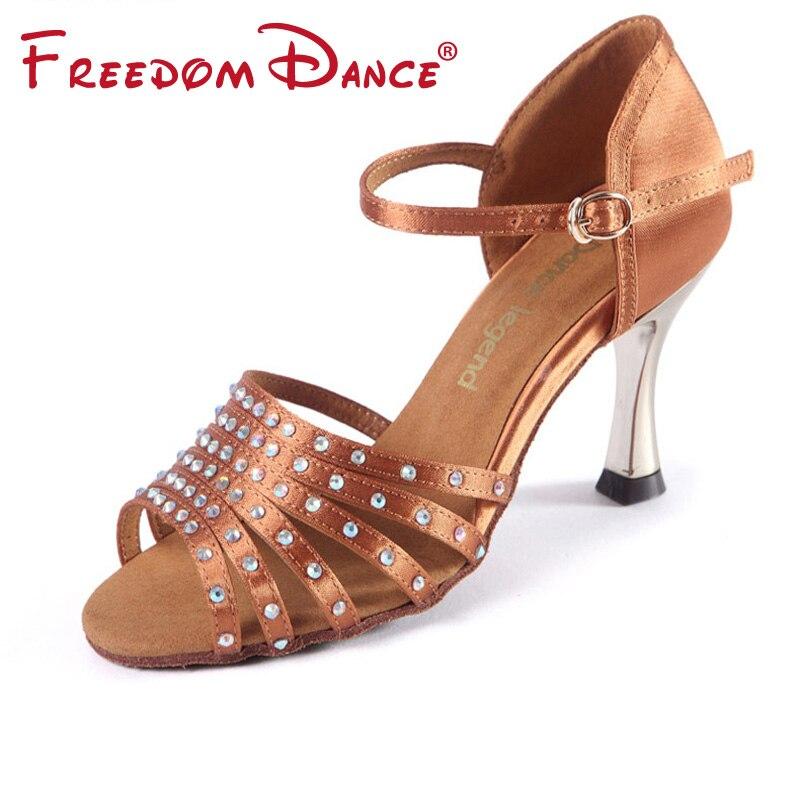 Diamantes Novedad Zapatos 2019 Decorados Con Baile Satén De wnvm0N8