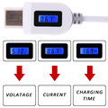 NI5L Mirco USB Data Cable LCD Digital Indicator Current Voltage Charging Time For Samsung Lenovo Huawei ZTE Nexus Charger Doctor
