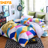SMAVIA New Arrival Home Textile 4pcs Bedding Set 100 Cotton Fabric Bed Line Duvet Cover Set