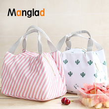 Canvas Lunch Bag Portable Insulation Box for Picnic Cooler Thermal Bags Student Women Sweet Style