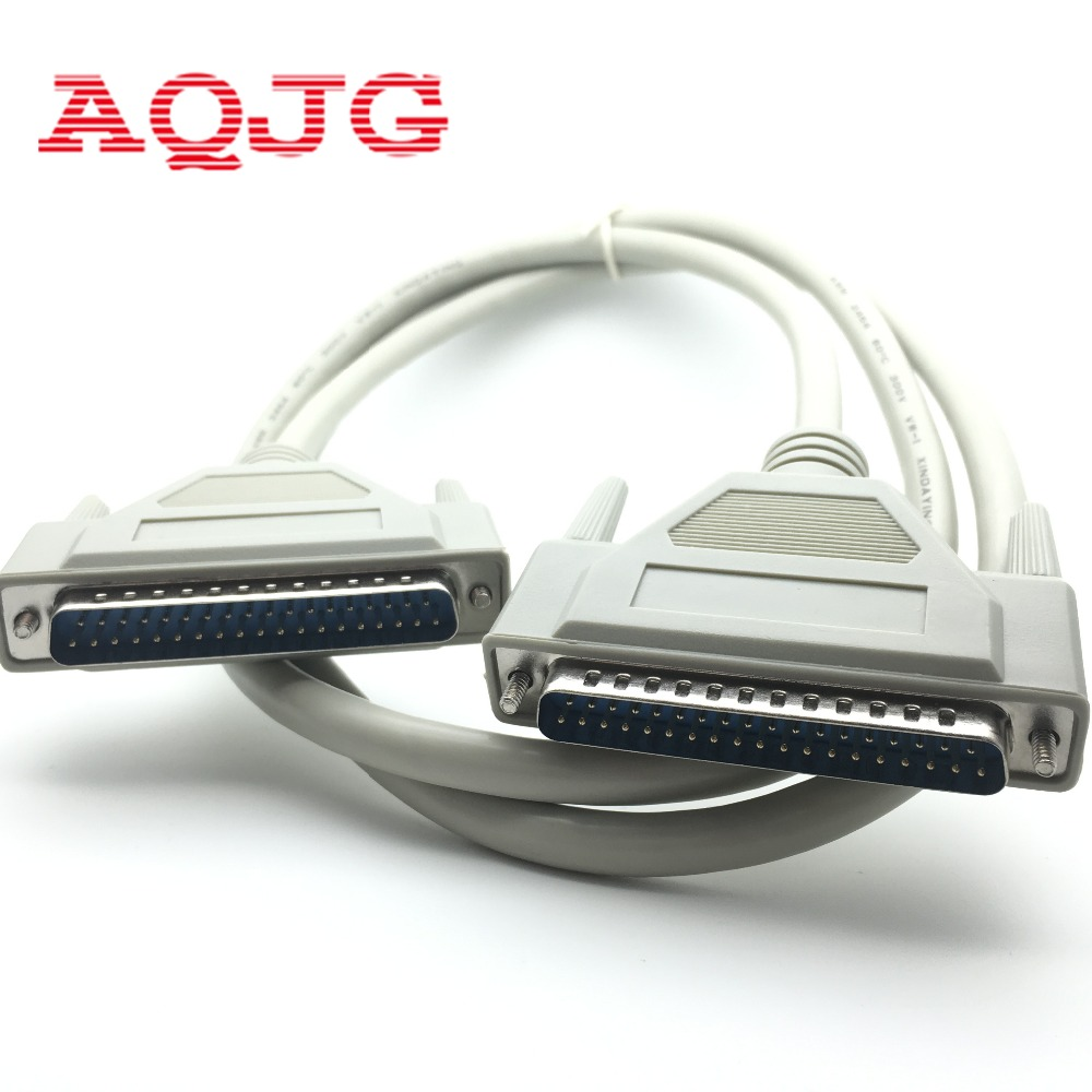 DB37 37Pin Male to male M/M Serial Port Extend DATA Cable Cord Printer Cable New  2.8M DB37 Malle to Female Wholesale AQJG 1pc new usb 2 0 to rs232 com port serial pda 9 pin db9 cable male to male m m adapter for pc pda gps 80cm