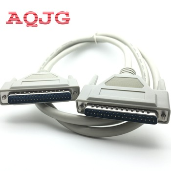 DB37 37Pin Male to male M/M Serial Port Extend DATA Cable Cord Printer Cable New  2.8M DB37 Malle to Female Wholesale AQJG