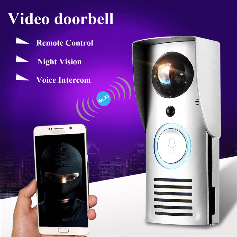 KINCO Night Vision Video Doorbell Smart Home Wifi Remote Control HD Waterproof DTMF Motion Detection Alarm for Phone keyshare dual bulb night vision led light kit for remote control drones