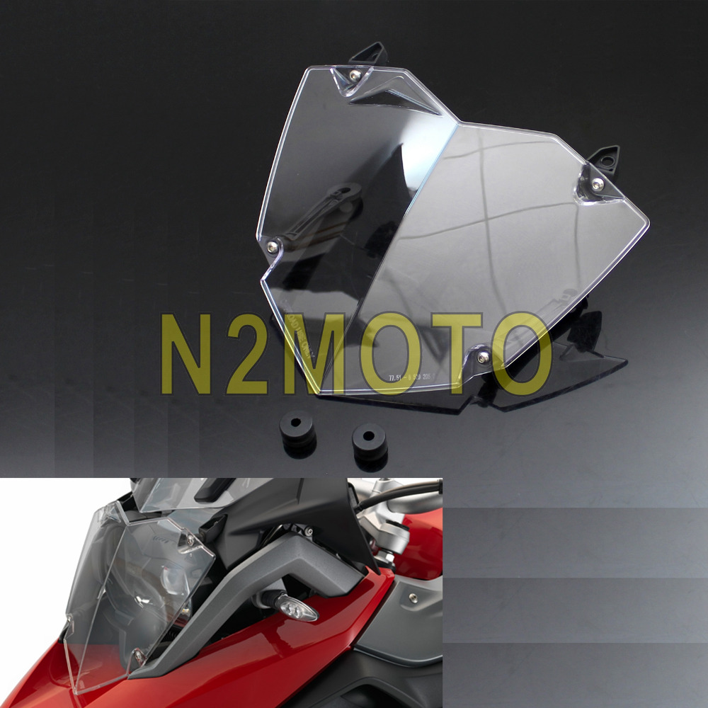 Motorcycle Transparent Headlight Cover Headlamp Guard for BMW R1200GS WC ADV Adventure 2013 Up Light Protector