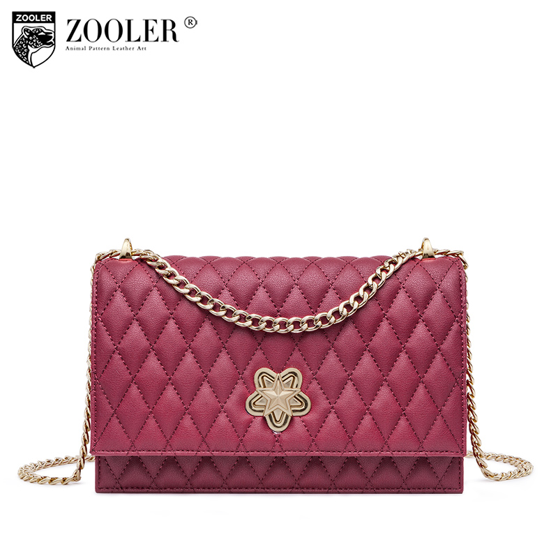 hottest!2018 ZOOLER woman leather bags real leather shoulder bag cross body women messenger bag bolsa feminina#R155 top 2018 zooler woman shoulder messenger bags cross body genuine leather bag chain elegant small bag bolsa feminina w116