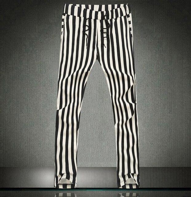 Hop Hip Pantalon Et Blanc Hommes Rayé Métrosexuel Noir Harem TF3JculK51