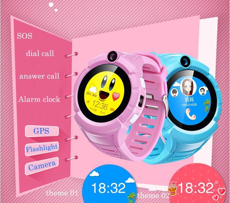 Горячие GPS Детские умные часы телефон с Камера фонарик vm50 местоположение ребенка touch SmartWatch SOS анти-потерянный трекер детские PK Q90