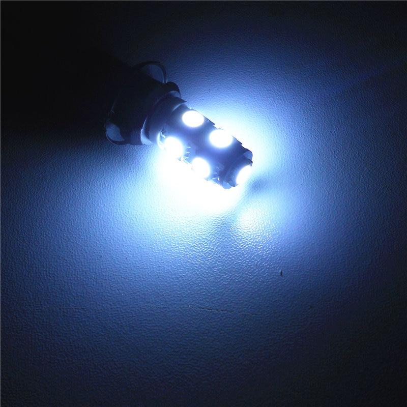 12 V-os LED-es izzólámpa 1Pair T10 (9 * 5050 SMD) W5W W2.1x9.5d - Autó világítás - Fénykép 3
