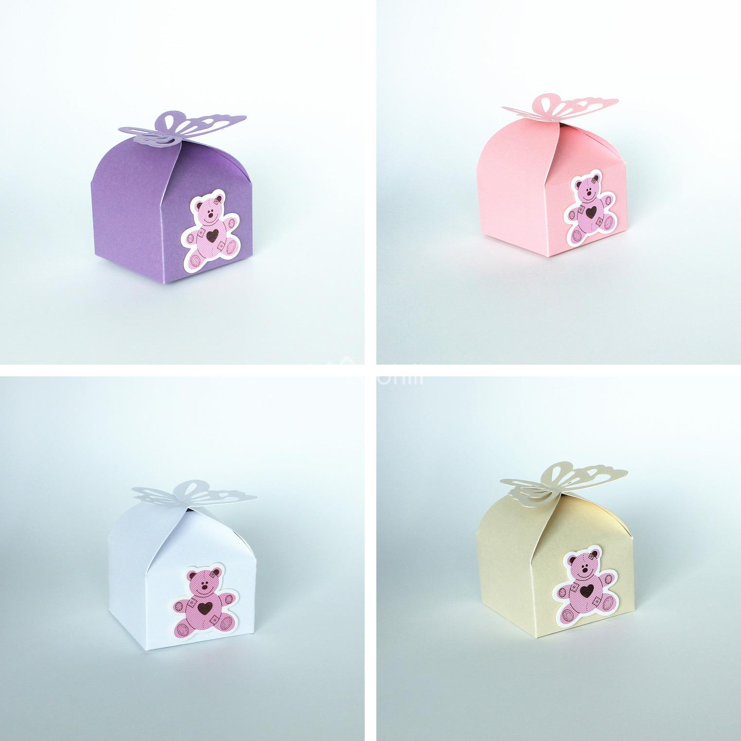 50PCS Baby shower Favors Butteryfly Pattern Candy Boxes Christening ...