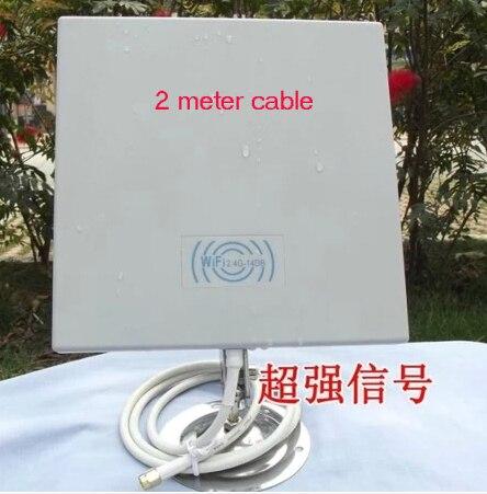 Antena de Panel exterior con 2 metro de cable 14dB 2.4 GMHz para amplificador de señal Inalámbrica WiFi WLAN 2 unids/lote