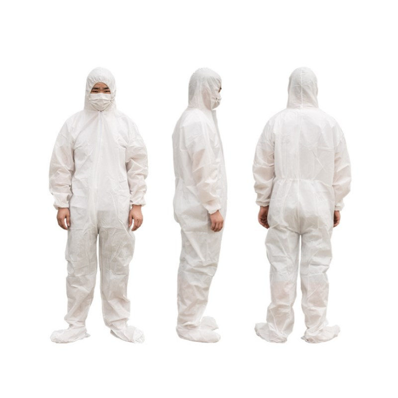 2 Pcs Disposable Protective Clothing Waterproof Coverall Industrial Epidemic Spray Pesticide Chemical Protection Safety Clothing