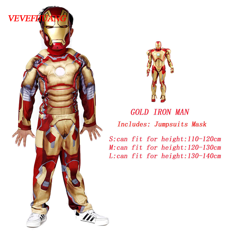 VEVEFHUANG Avengers 3 Infinite War Iron Man Cosplay Costume Stage Performance Birthday Banquet Dress Up Props Kids Gifts