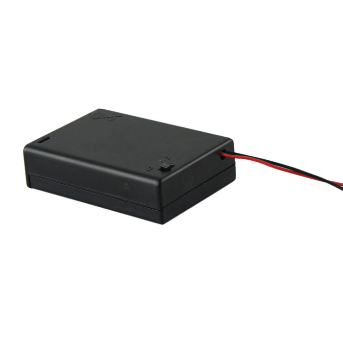 New 1Pcs 3 AA 2A Battery 4.5V Holder Box Case With Switch Lead High Quality Box Power Transfer Standard
