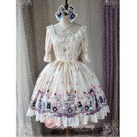 Ice Cream Party ~ Sweet Printed Short Sleeve Lolita Dress by Magic Tea Party