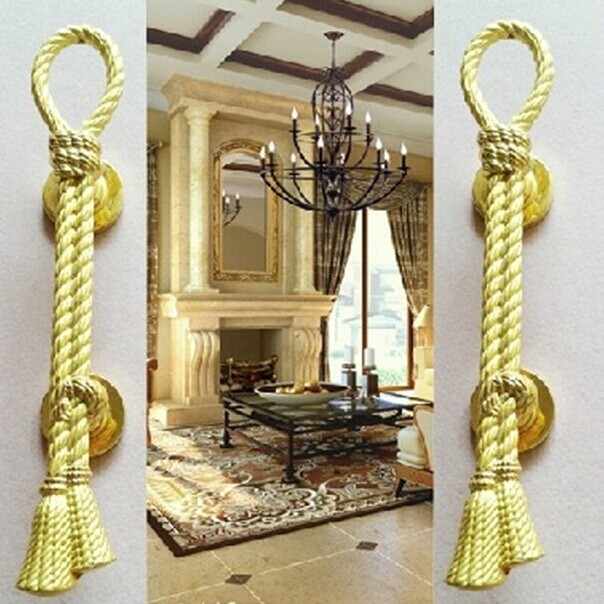 200mm high quality antique zinc alloy wood door handles kitchen ,KTV ,office hotel wardrobe wood door  gold handles pulls