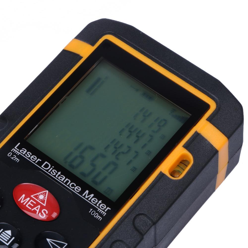 100 M 328ft 3937in Jarak Laser Meter Rangefinder Battery Powered Distance 100m Pengukur Meteran Ukur Digital Range Finder Mengukur Diastimeter Alat Di Dari