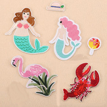 Sea Creatures Animal Patch Embroidered Iron On Patches For Clothing Embroidery DIY Garments Shoes Bags Accessories