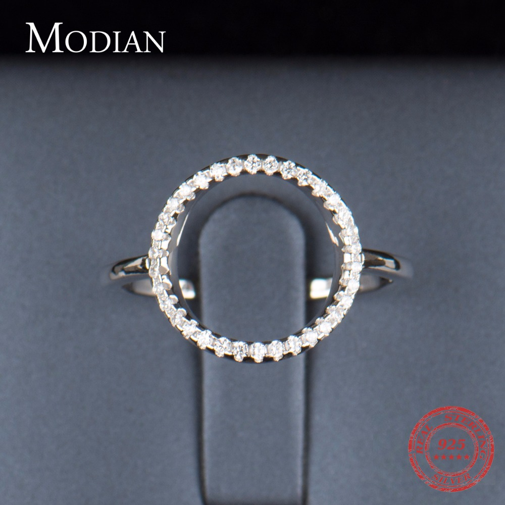 Classic Fashion Hollow Out Hoop Sparkling White And Rose Ring Cubic - Mote smykker - Bilde 5