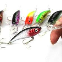 7Pcs Wholesale Cheap Fishing lures China Swimbait Sea Bass Carp Tackle Artificial Fish Bait Wobbler set HCS Hook 102mm7.6g